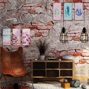 DSU Abstract Nordic Maiden Pattern Modern Simple Wallpaper Wall Sticker -