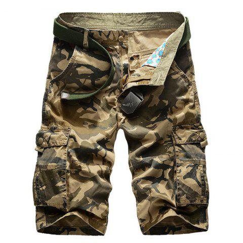 Cheap Men's Pockets Camouflage Shorts