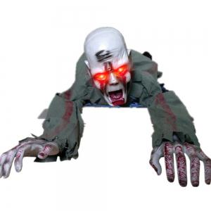 Photo Electric Skull Crawling Horror Haunted Ghost Zombie -