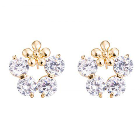Outfits Zircon Earrings with Petals Ring ERZ0395