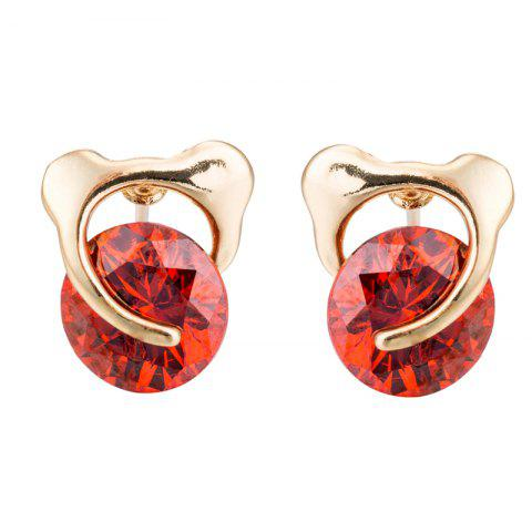 Fashion Beautiful Zircon Earrings for Bear ERZ0402