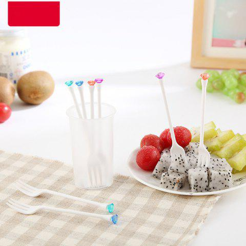 Unique Creative Plastic Fruit Fork Picnic and Party Supplies 8PCS