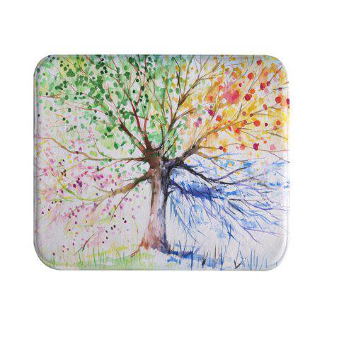 Unique Ink Colorful Tree Super Soft Non-Slip Bath Door Mat Machine Washable Quickly Dry