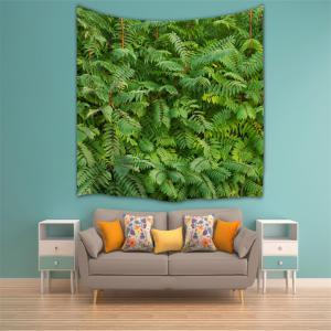 Green Leaf 3D Printing Home Wall Hanging Tapestry for Decoration -