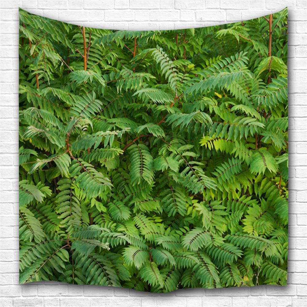 Discount Green Leaf 3D Printing Home Wall Hanging Tapestry for Decoration