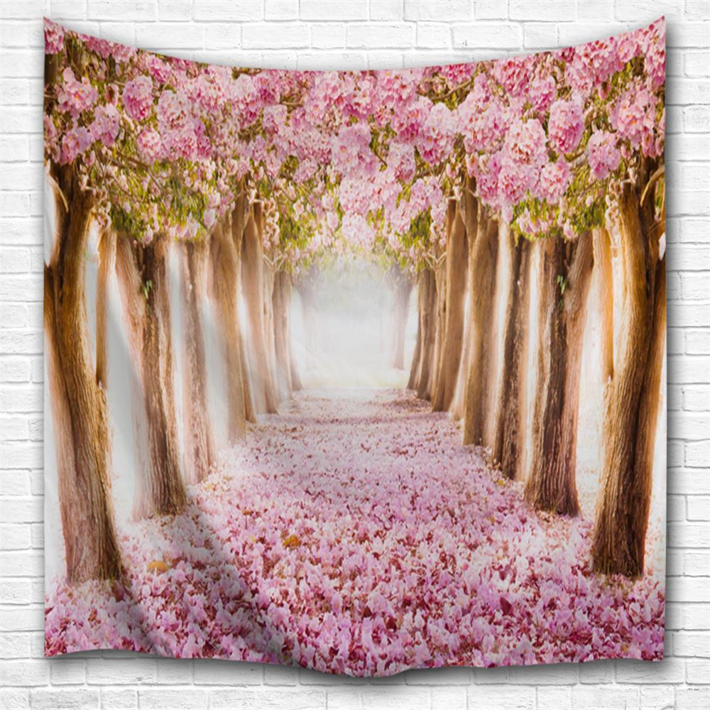 Online Fallen Flowers 3D Printing Home Wall Hanging Tapestry for Decoration