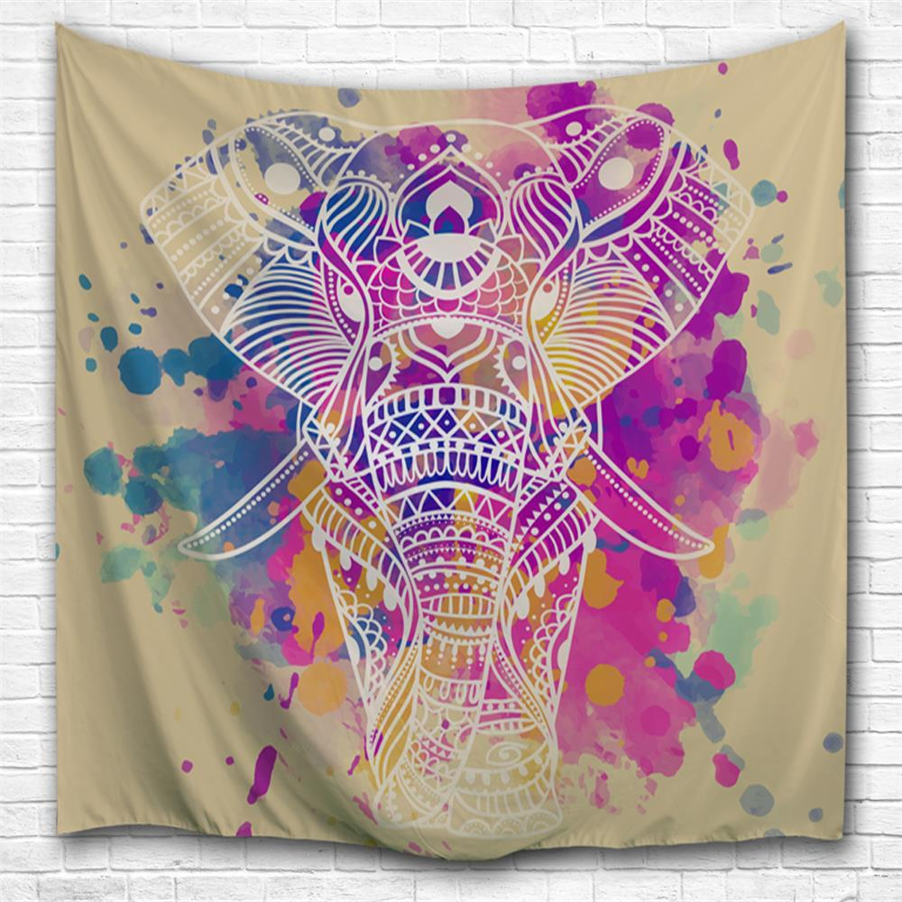 Chic Dream White Elephant 3D Printing Home Wall Hanging Tapestry for Decoration