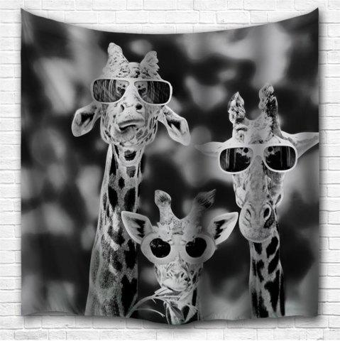 Unique Sunglasses Giraffe 3D Printing Home Wall Hanging Tapestry for Decoration
