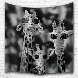 Sunglasses Giraffe 3D Printing Home Wall Hanging Tapestry for Decoration -