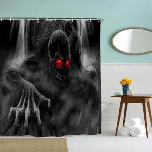 Red Eye Demon Water-Proof Polyester 3D Printing Bathroom Shower Curtain -