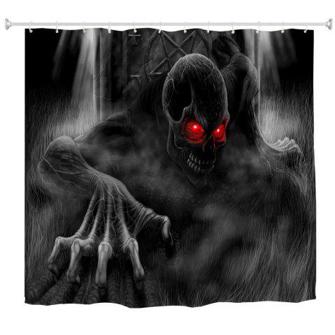Fashion Red Eye Demon Water-Proof Polyester 3D Printing Bathroom Shower Curtain