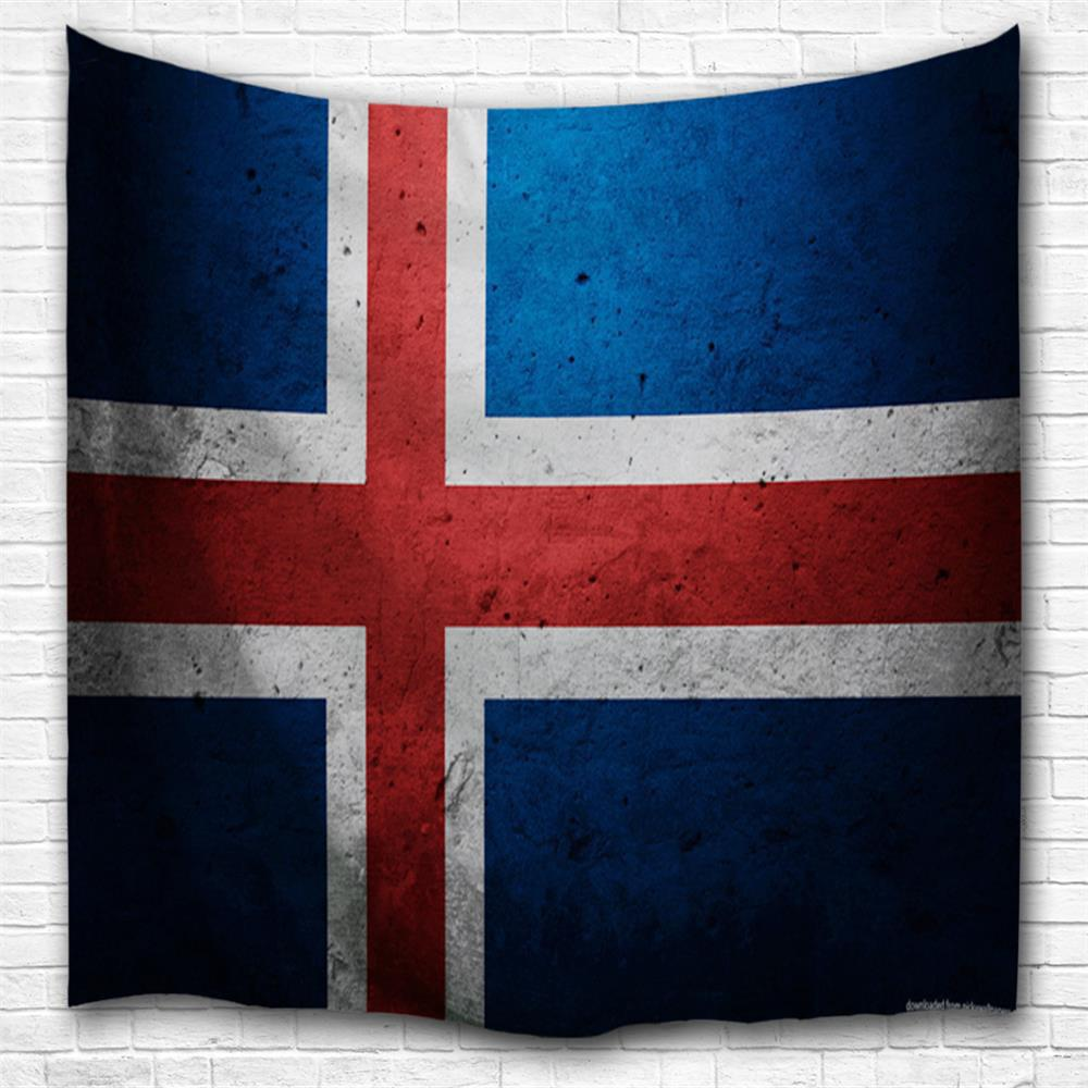 Shop Cross Flag 3D Printing Home Wall Hanging Tapestry for Decoration