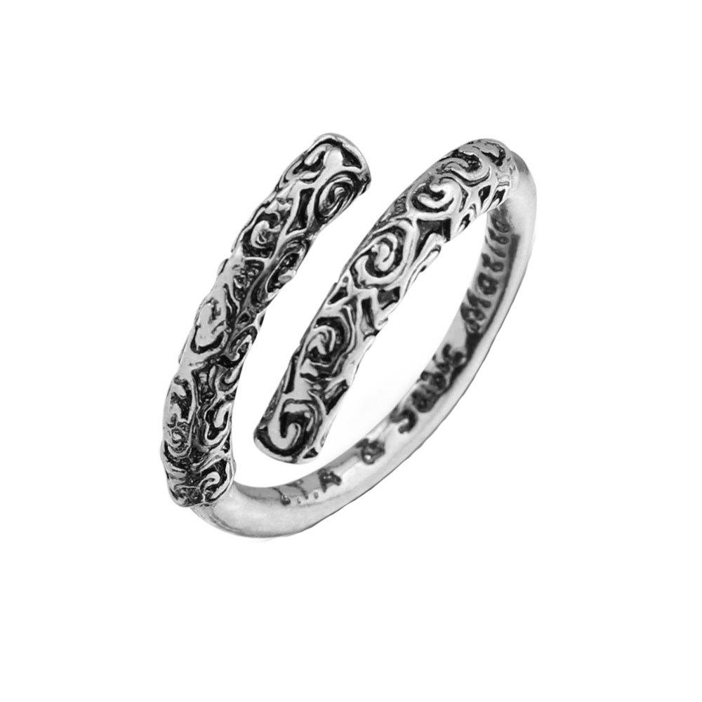 Trendy Carved Opening Couple Ring
