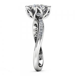 Plant Flower Ringer Diamond Couple Ring -