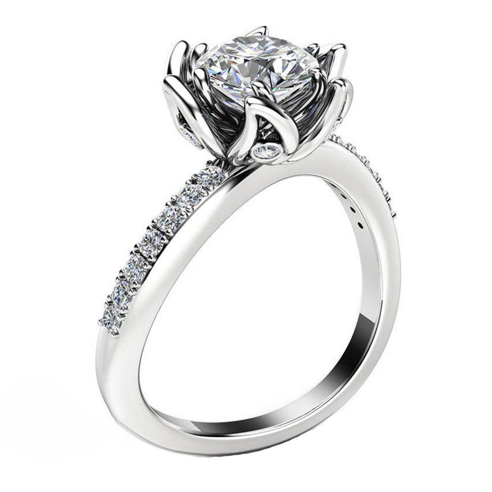 Buy Plant Flower Ringer Diamond Couple Ring