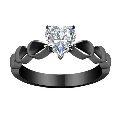 Affordable Heart - shaped Diamond Encrusted Couple Rings