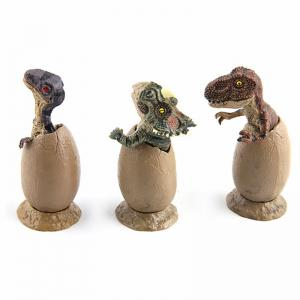 New Fun Mini Half Hatching Eggs Dinosaur Model Toy 3PCS -
