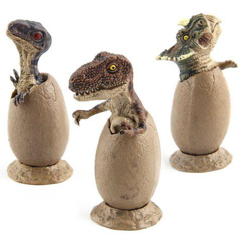 Latest New Fun Mini Half Hatching Eggs Dinosaur Model Toy 3PCS