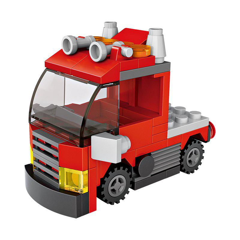 Trendy LOZ 82PCS Mini Red Truck Blocks Toy