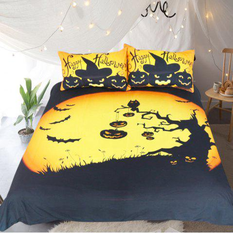 Fancy Happy Halloween Tree Kids Bedding  Duvet Cover Set Digital Print 3pcs