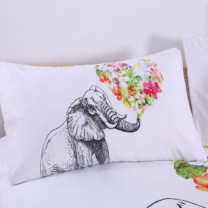 Elephant Bedding Flower Duvet Cover Set Digital Print 3pcs -