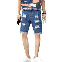 Men's Summer Thin Five Denim Shorts -