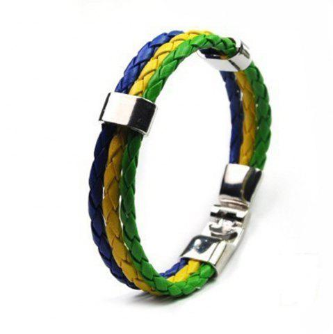 Shop National Flag Woven Bracelet of The Accessories
