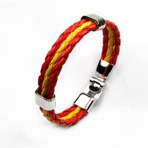 Outfit National Flag Woven Bracelet of The Accessories