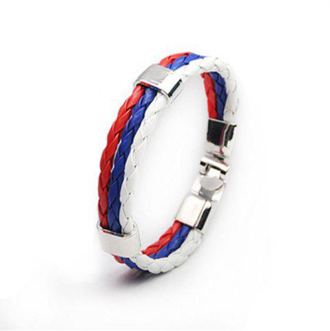 Fancy National Flag Woven Bracelet of The Accessories