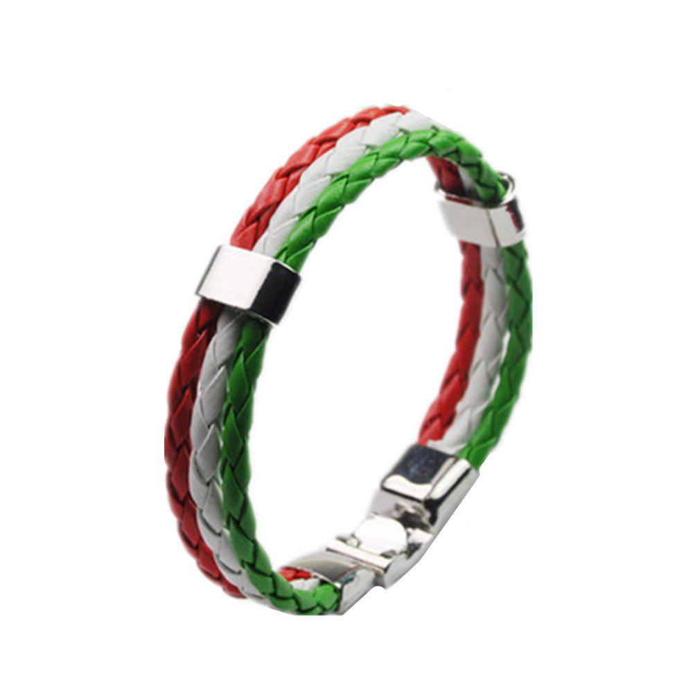 Hot National Flag Woven Bracelet of The Accessories