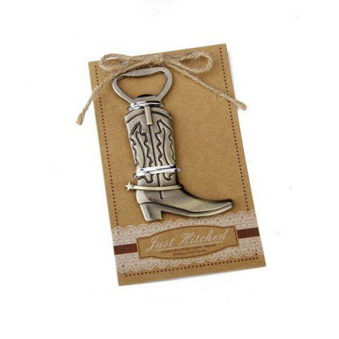 Sale Creative Vintage Bronze Alloy Boot Opener