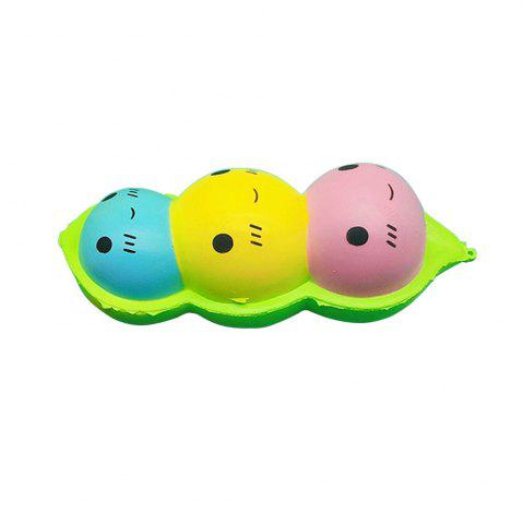 Buy Jumbo Squishy Simulation Color Pea Doll Pendant 1PC