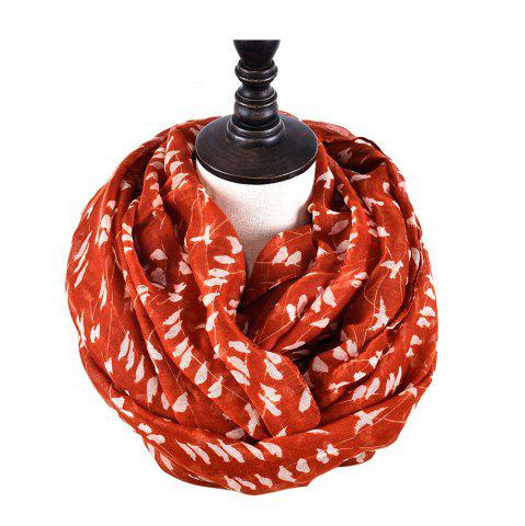 Buy Fashion Women's Willow Birds Print Long Shawl Infinity Loop Cowl Scarf