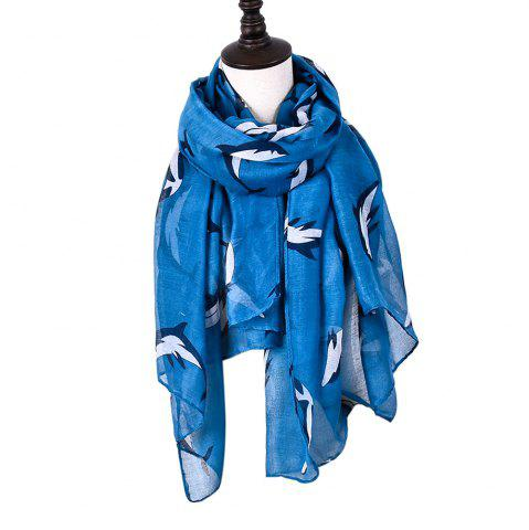Hot Animal Whales Print Shawl Women's Cotton Scarves For Ladies