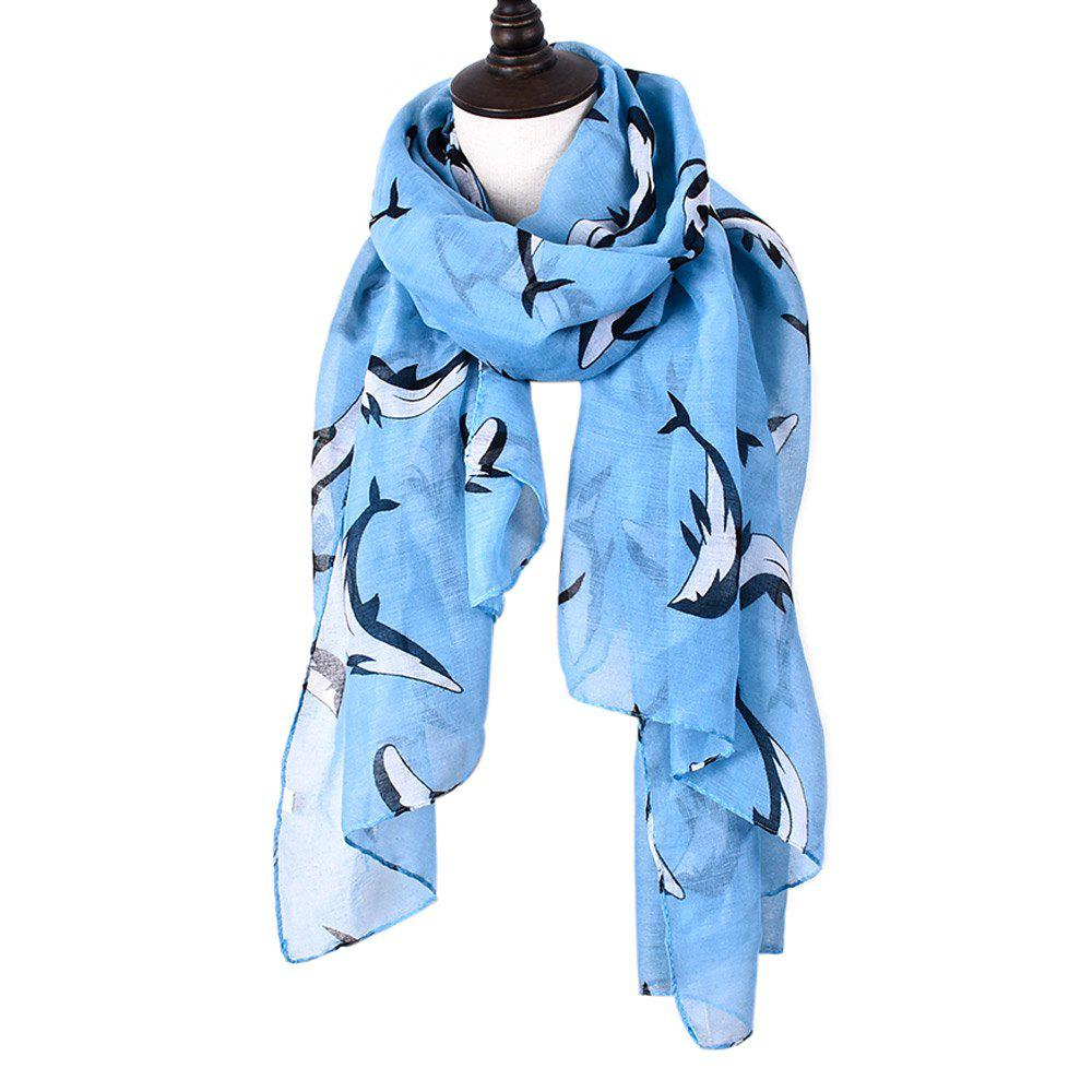 Outfits Animal Whales Print Shawl Women's Cotton Scarves For Ladies