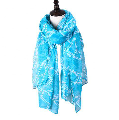 Shops Ladies Decorative Plaid Printed Viscose Scarf
