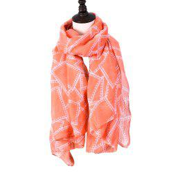 Ladies Decorative Plaid Printed Viscose Scarf -