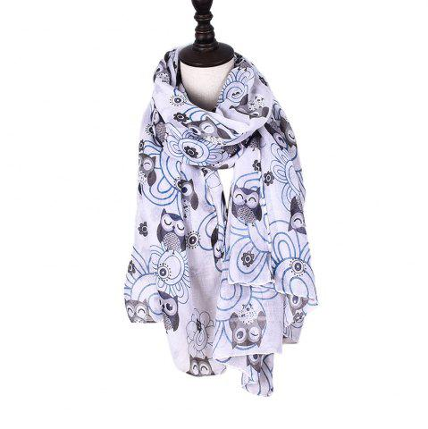 Cheap New Holiday Fashion Cute Animal Owl Print Women Scarves