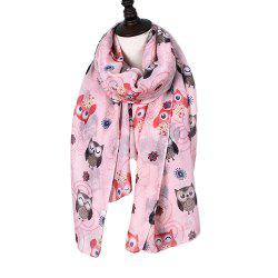 New Holiday Fashion Cute Animal Owl Print Women Scarves -
