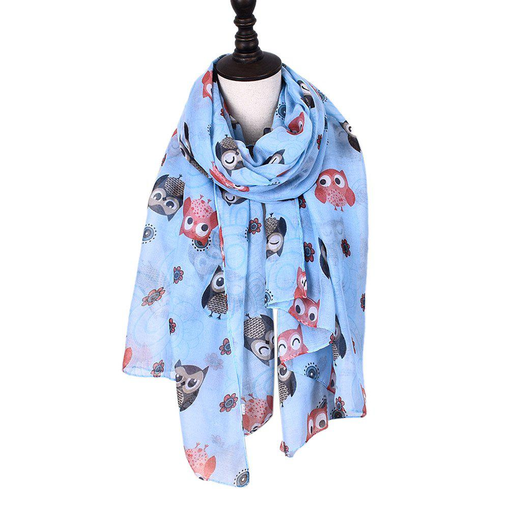 Chic New Holiday Fashion Cute Animal Owl Print Women Scarves