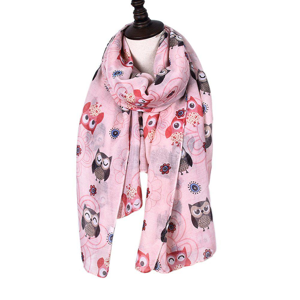 Latest New Holiday Fashion Cute Animal Owl Print Women Scarves