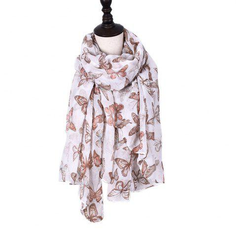 Outfit Women Rose Flowers Print Shawl Vintage Soft Loop Scarf
