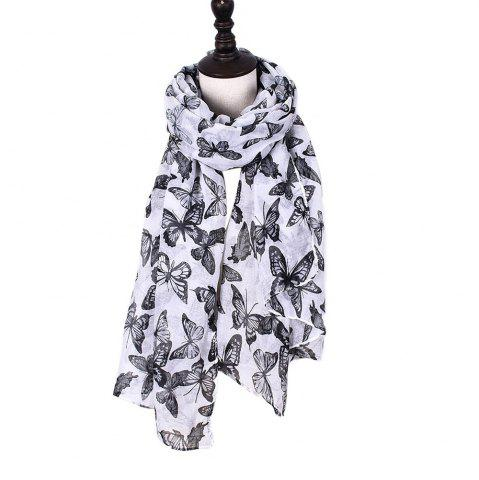 Outfits Women Rose Flowers Print Shawl Vintage Soft Loop Scarf