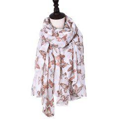 Women Rose Flowers Print Shawl Vintage Soft Loop Scarf -