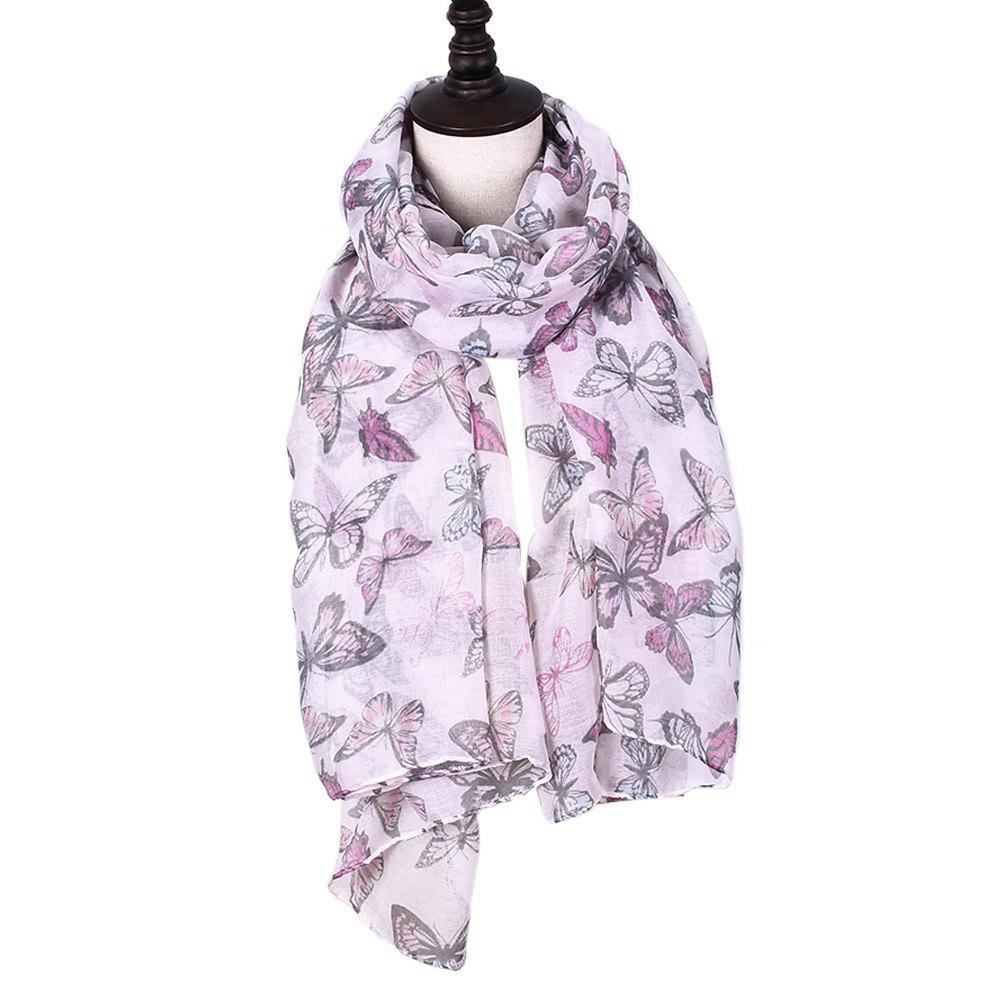 Discount Women Rose Flowers Print Shawl Vintage Soft Loop Scarf