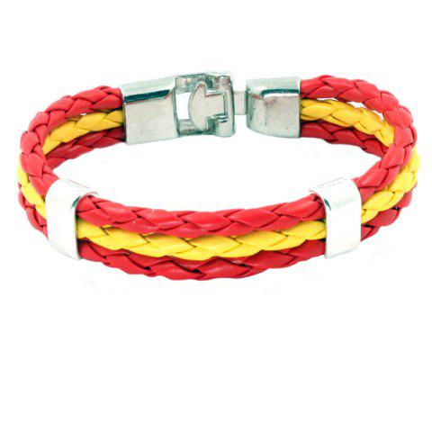 Buy Flag Pu Hand Woven Leather Cord Bracelet