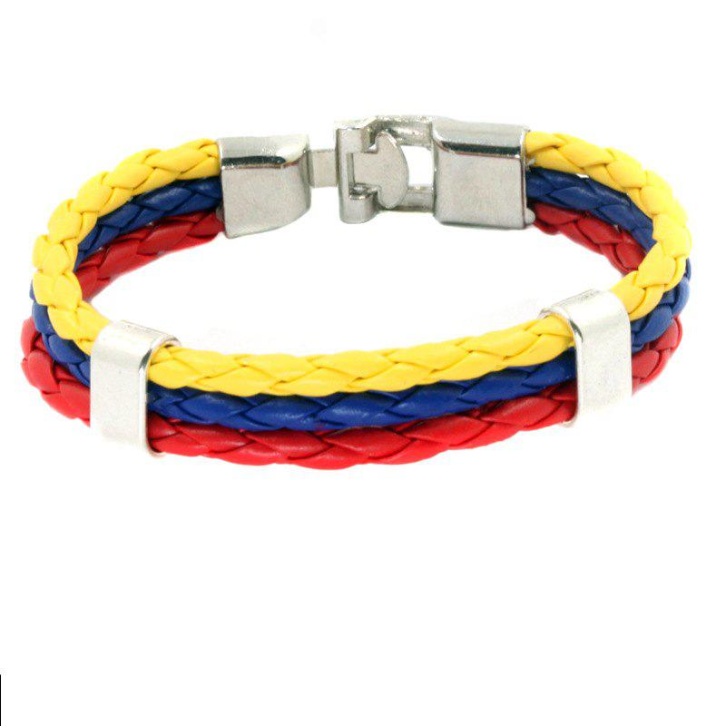 New Flag Pu Hand Woven Leather Cord Bracelet