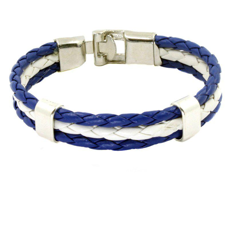 Outfits Flag Pu Hand Woven Leather Cord Bracelet