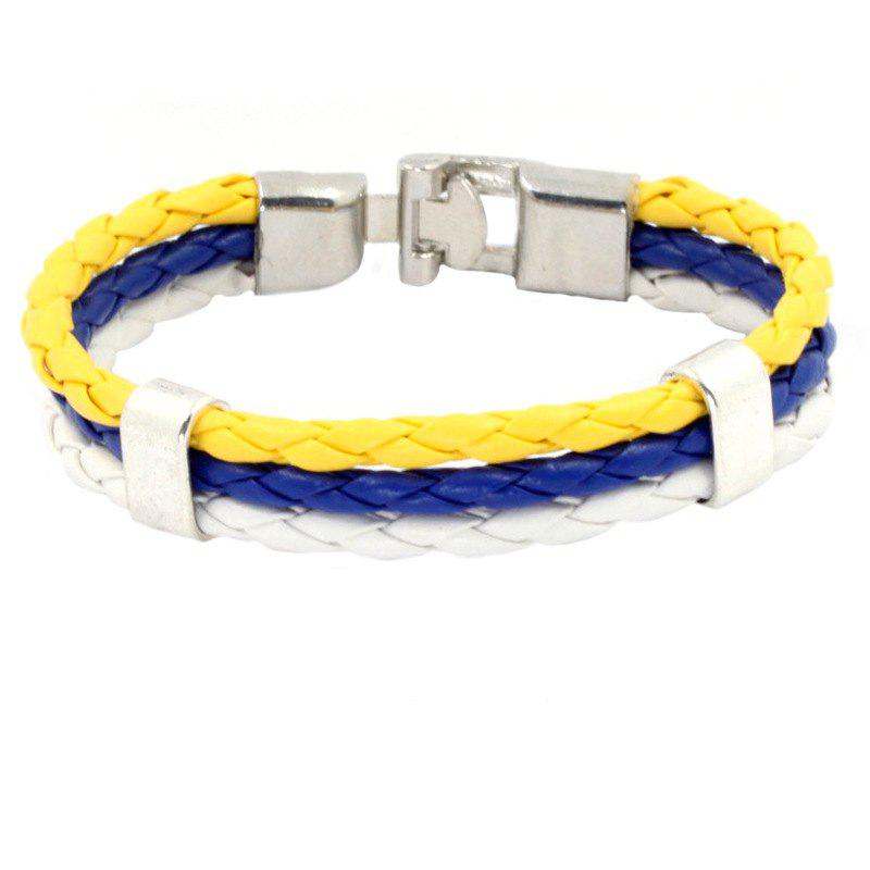 Outfit Flag Pu Hand Woven Leather Cord Bracelet
