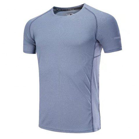 Hot Quick Dry Men Sleeve Round Collar Large Code Loose Fitness Sport T-Shirt